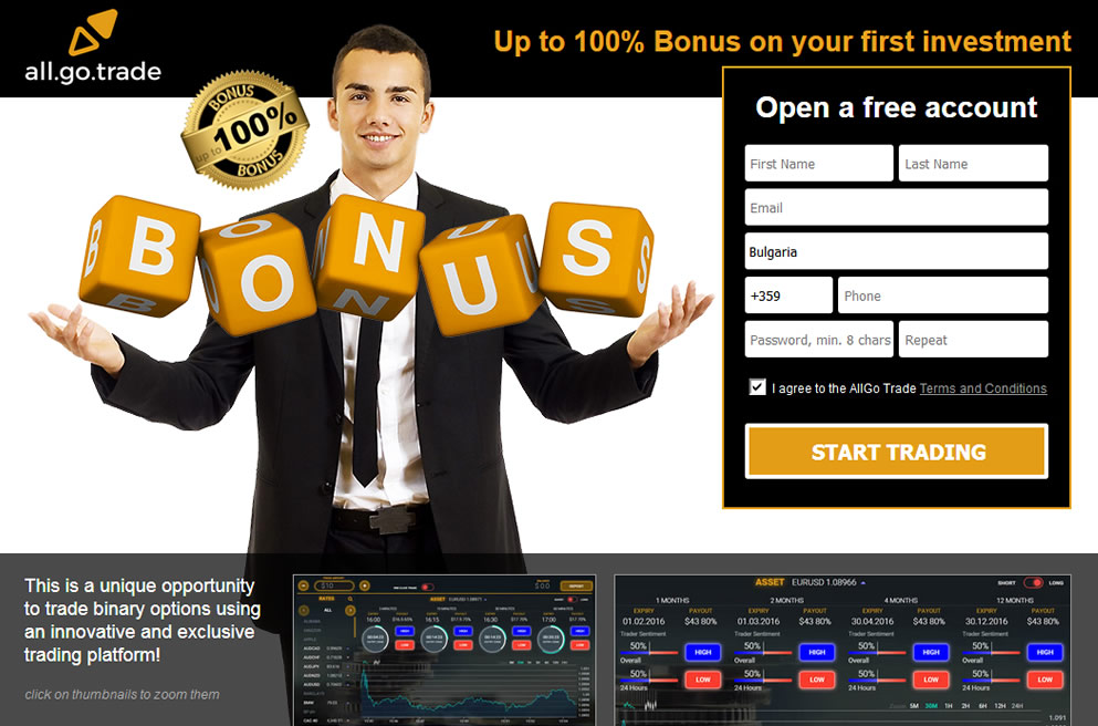 Binary options landing pages